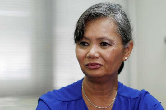 Mu Sochua, députée du PSNC, le 4 octobre.