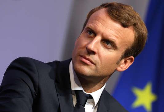 Emmanuel Macron, le 4 octobre, à Egletons.