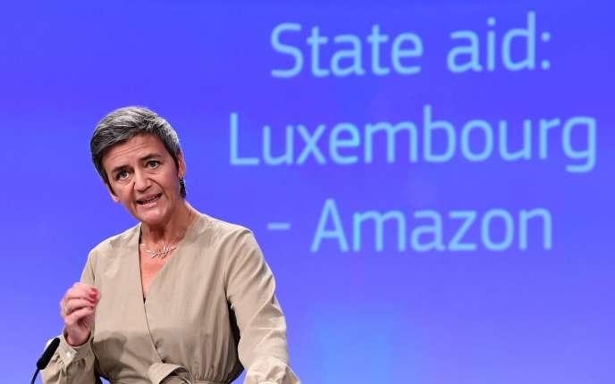 Margrethe Vestager, la commissaire européenne à la concurrence, à Bruxelles le 4 octobre.