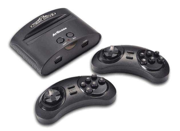 La Mega Drive d'AT Games ne respecte pas le design de la Mega Drive, et ses manettes réagissent différemment.