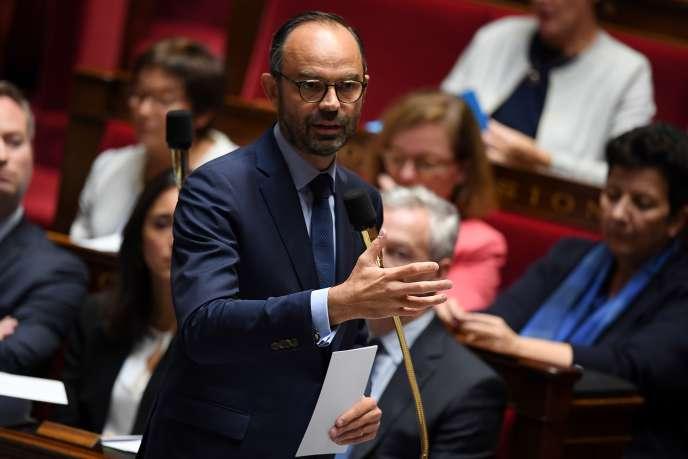 Le premier ministre, Edouard Philippe, à l'Assemblée nationale, à Paris, le 3octobre.