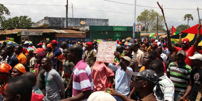 Lors d'une précédente manifestation contre le président togolais, Faure Gnassingbé, le 20septembre 2017, à Lomé.