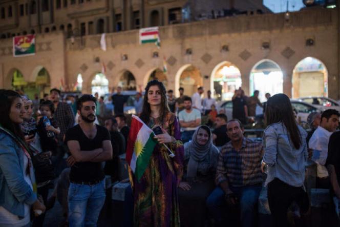A Erbil, le 25 septembre, les Kurdes font la fête en cette journée de référendum pour l'indépendance du Kurdistan irakien.