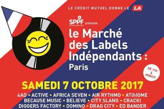 Affiche (détail) du Marché des labels indépendants, à Paris.