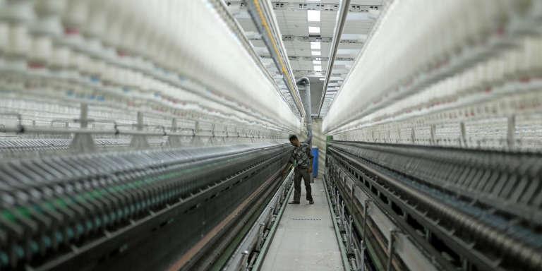 Une usine de filature, au Caire, en Egypte, en janvier 2017.