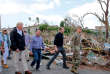 Le président Donald Trump à Porto Rico le 3 octobre dernier, après le passage de l'ouragan Maria qui a ravagé l'île.