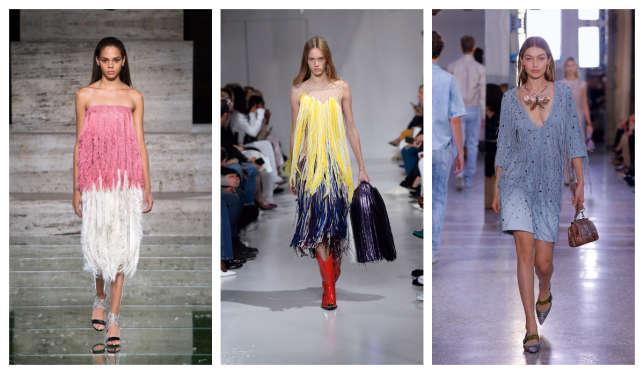 De gauche à droite : Salvatore Ferragamo, Calvin Klein, Bottega Veneta.