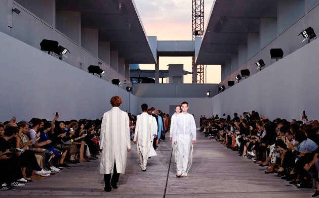 Défilé Jil Sander, collection printemps-été 2018 à Milan, le 23 septembre.