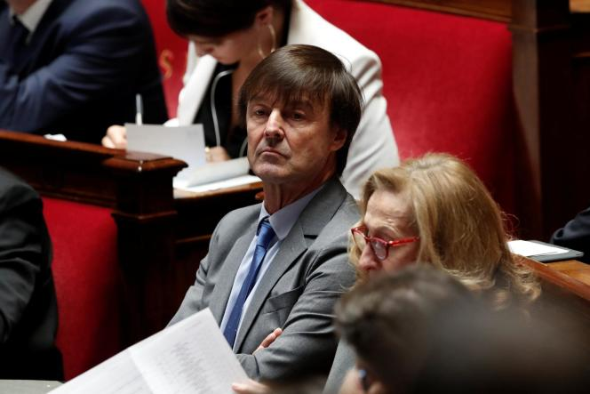 Nicolas Hulot, à l'Assemblée, le 3 octobre.
