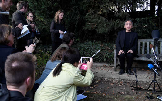 Kazuo Ishiguro à Londres, jeudi 5 octobre.