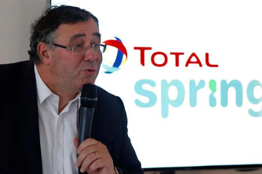 Le PDG de Total, Patrick Pouyanné, lors de la présentation de l'offre Total Spring, le 5 octobre 2017.