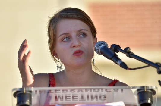 Lila Le Bas – présidente de l'UNEF –, en septembre 2016.