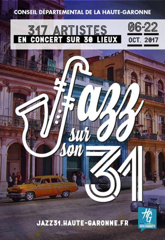 Affiche du festival Jazz sur son 31, en Haute-Garonne.