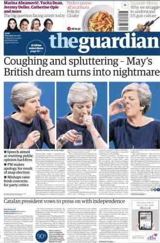 «Le rêve britannique de May tourne au cauchemar», titre «The Guardian».