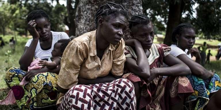 Des Centrafricaines réfugiées en République démocratique du Congo (RDC) en septembre 2017.