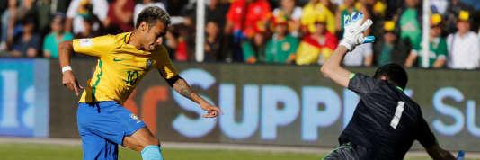 Le Brésil et sa star Neymar, ici face à la Bolivie le 5 octobre, s'est facilement qualifié.