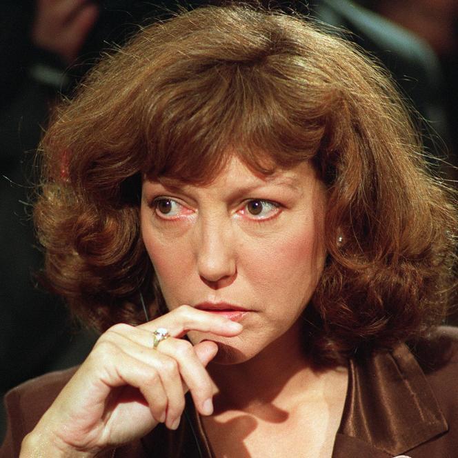 Anne Wiazemsky à Paris, le 6 octobre 1989.