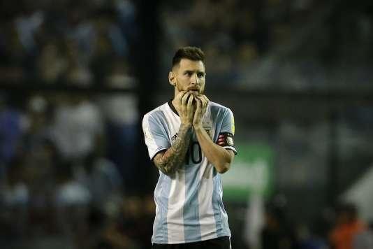 Lionel Messi lors du match face au Pérou, le 5 octobre, à Buenos Aires.