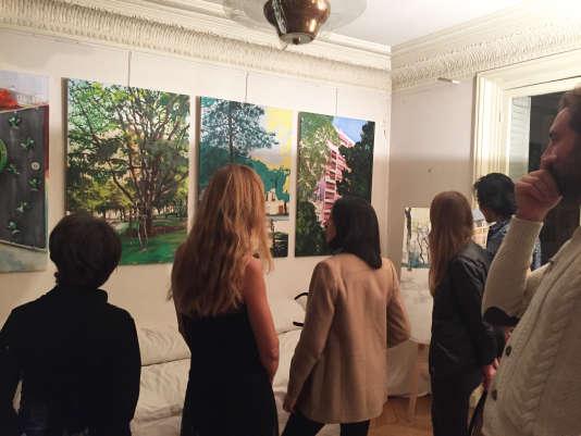 Exposition de Juliette Lamarca, accueillie dans l'appartement de Françoise Nowak, à Paris.