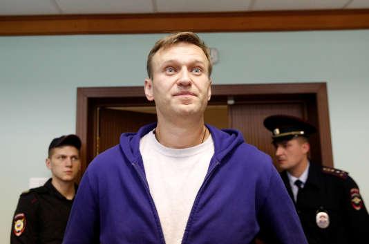 Alexeï Navalny, à Moscou, le 6 octobre.