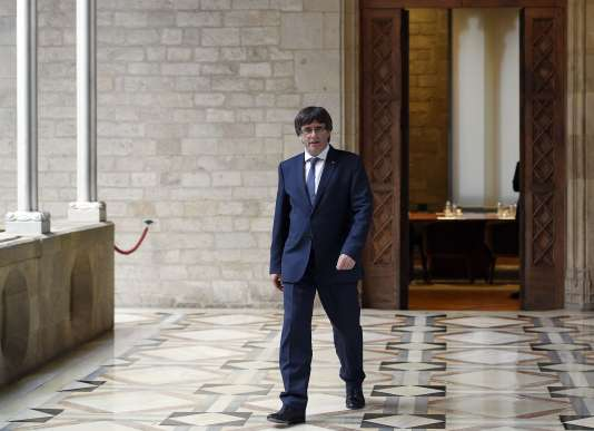 Le président catalan, Carles Puigdemont, à Barcelone, le 6 octobre.