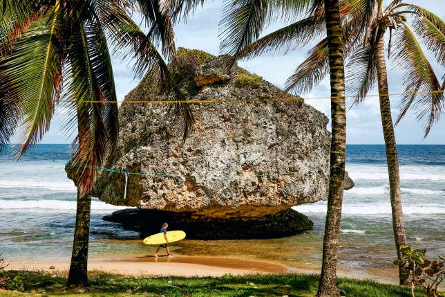 La plage de Bathsheba, à la Barbade, sélectionnée par le « New York Times Explorer ».