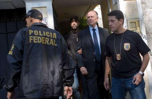 Carlos Nuzman emmené par la police brésilienne, le 5octobre.