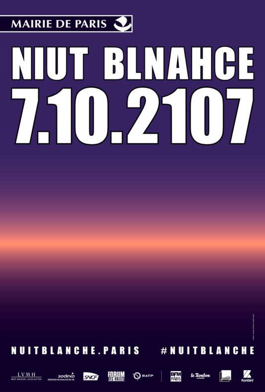 La Nuit blanche 2017 a lieu à Paris, samedi 7 octobre.