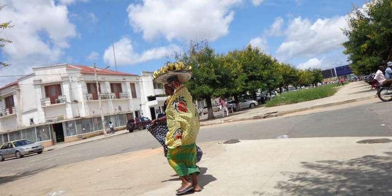Dans le centre de la ville deNampula, au Mozambique.