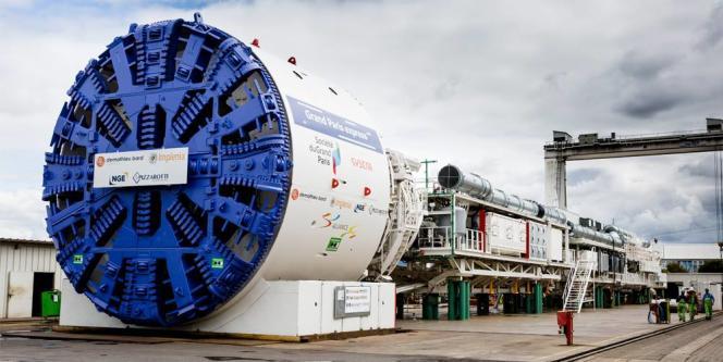 Les premiers tunneliers du Grand Paris Express seront mis en service début 2018.