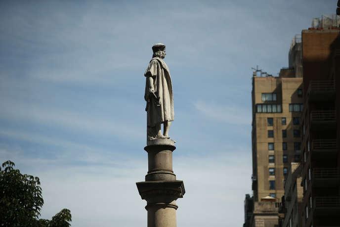 La statue de Christophe Colomb à New York, le 26 août.