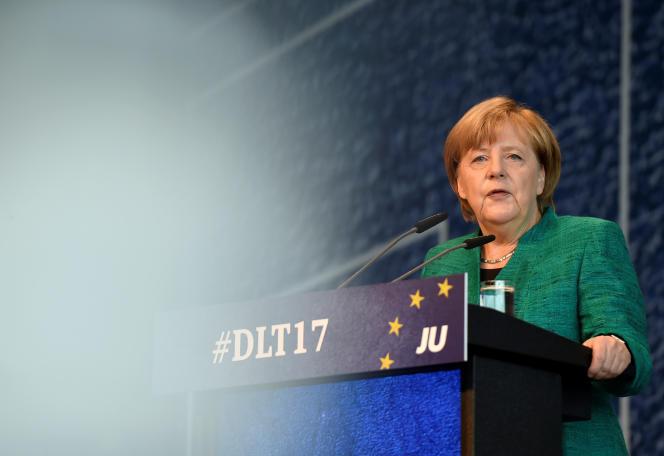 La chancelière allemande, Angela Merkel, à Dresde le 7 octobre.