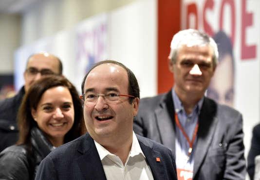 Miquel Iceta, chef de file du Parti socialiste de Catalogne, en janvier 2016 à Madrid.