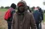 Harry, migrant venu du Soudan, près du port de Ouistreham (Calvados) le 5 octobre.