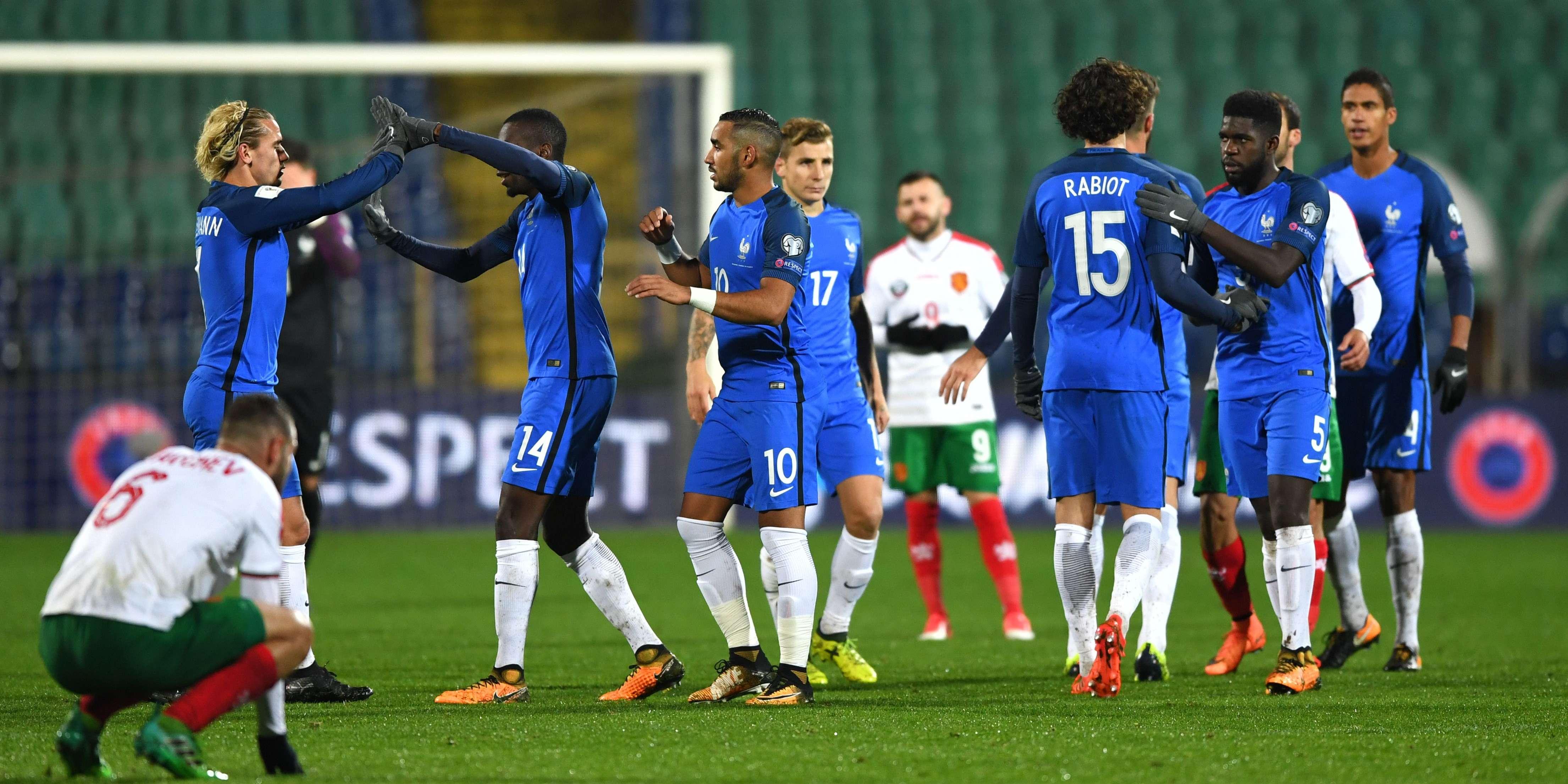 coupe du monde 2018 revivez la victoire des bleus en bulgarie 1 0. Black Bedroom Furniture Sets. Home Design Ideas