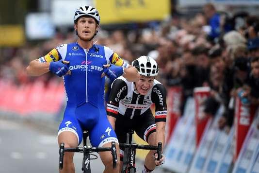 Matteo Trentin a terminé en beauté son contrat avec Quick-Step, avec une victoire sur Paris-Tours.