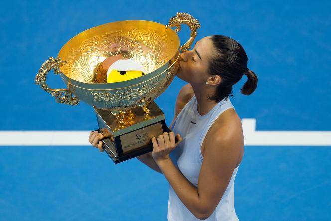 La Française Caroline Garcia a remporté, en Chine, deux titres en deux semaines.