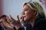 Marine Le Pen, le 8 octobre 2017 à Carpentras (Vaucluse).