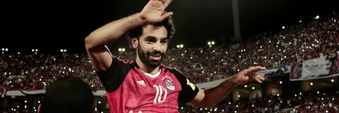 Mohamed Salah, ici le 8 octobre, a porté les Egyptiens vers le Mondial.