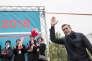 Alexei Navalny lors d'un meeting de mobilisation pour sa candidature aux élections présidentielles, à Orenburg (Oural) le 3 septembre.