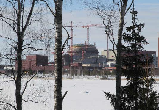 Le chantier de l'EPR d'Olkiluoto (sud-ouest de la Finlande), en mars 2010.