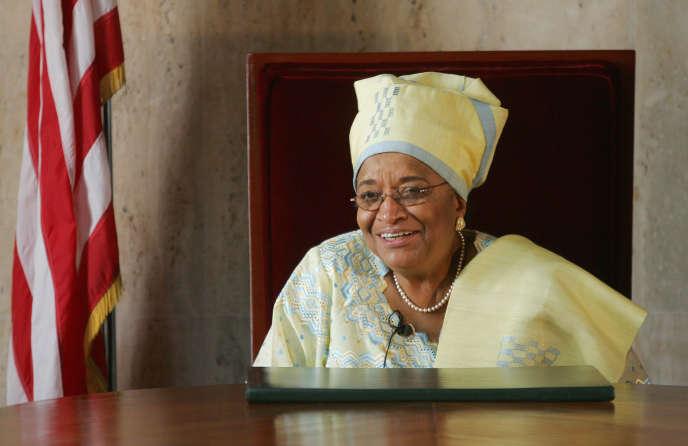 La présidente sortante du Liberia, Ellen Johnson Sirleaf, le 10 octobre.
