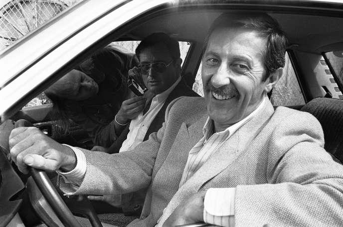 Jean Rochefort pendant le tournage d'«Un dimanche de flic», en 1983, avec Victor Lanoux.