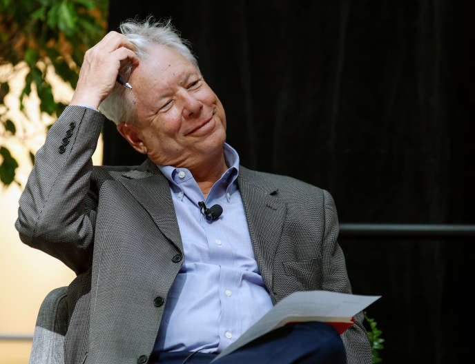 Richard Thaler, Prix Nobel d'économie 2017, à Chicago (Illinois), le 9 octobre.