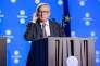 Le président de la commission européenne, Jean-Claude Juncker, à Tallinn, le 29 septembre, où la decision de créer une taxe sur les transactions financières a été reportée.