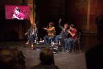 Fabrice Eboué, Alexis Vizorek et Jérémy Ferrari au Monde Festival aux Théâtre des Bouffes Du Nord, le 24 septembre. Un débat animé par Sandrine Blanchard.