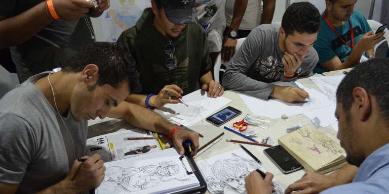 L'atelier de dessin est l'une des activités favorites du public du Festival international de la BD d'Alger (Fibda) qui s'est déroulé du 3 au 7 octobre 2017. Enfants et adultes pouvaient cette année participer au concours du meilleur portrait de «héros».