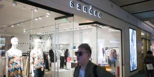 Boutique Sandro, à Pékin, en mars 2016.