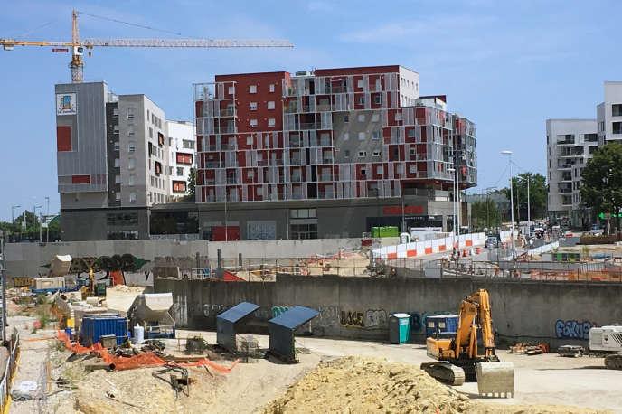 Un programme immobilier en cours de construction à Nanterre-Université.