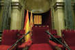 Le Parlement catalan à la veille de la déclaration du président Carles Puigdemont, le 9 octobre à Barcelone.